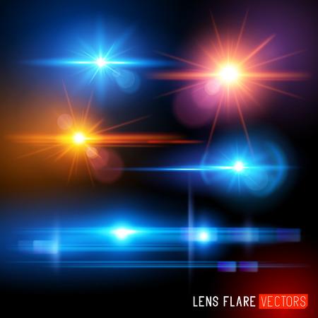 Ilustración de Vector Lens Flare Set - lens Light effects vector illustration  - Imagen libre de derechos