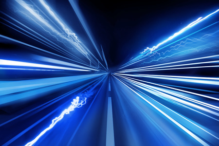 Foto per Light beams, super fast light trails. - Immagine Royalty Free