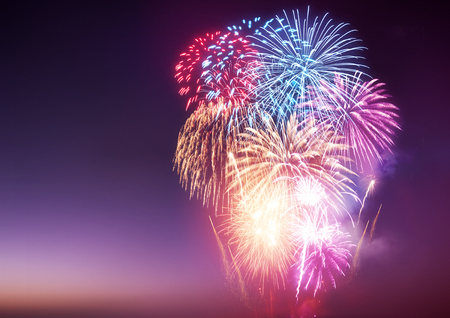 Photo pour A Fireworks Display. A large fireworks event and celebrations. - image libre de droit