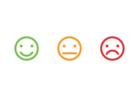 Ilustración de Smiley faces icons vector illustration - Imagen libre de derechos