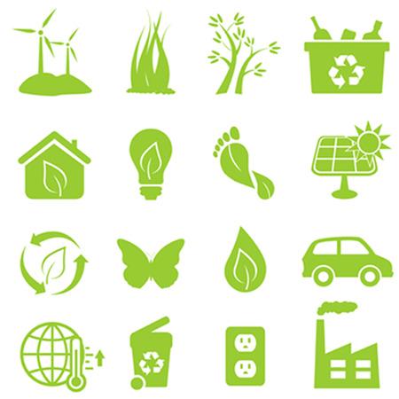 Ilustración de Eco and environment icon set - Imagen libre de derechos