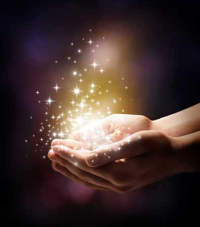 Photo for stardust and magic in your hands  - Royalty Free Image