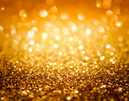 Photo for golden glitter and stars for christmas background  - Royalty Free Image