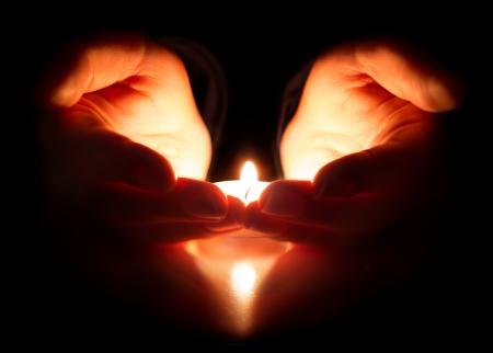 Foto de hope and prayer - faith is in the heart  - Imagen libre de derechos