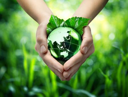 Foto de ecological concept - protect world s green - Orient  - Imagen libre de derechos