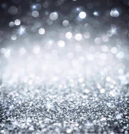 Photo pour silver glitter - shiny wallpapers for Christmas - image libre de droit