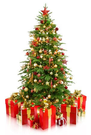 Photo for christmas tree with gifts - Royalty Free Image