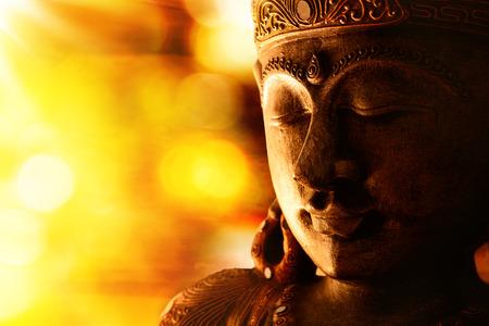Photo pour bronze buddha statue - image libre de droit