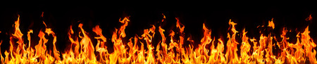 Photo for fire and flames on black background - Royalty Free Image