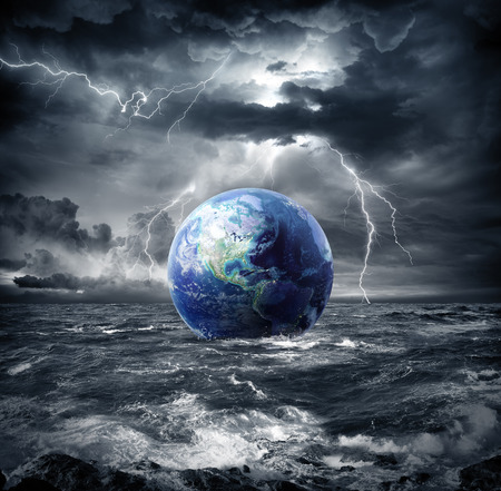 Photo pour earth in the storm - apocalypse in Usa - image libre de droit