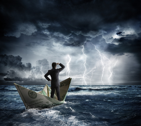 Photo for dollar boat in the bad weather - Royalty Free Image