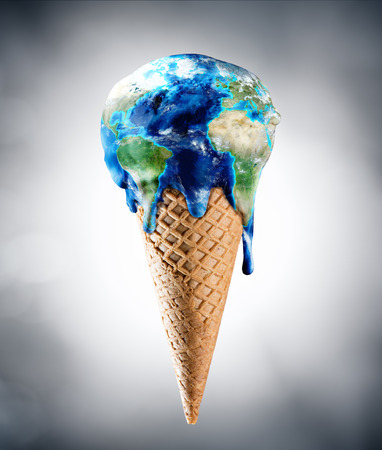Photo for Ice Cream World - Climate Change Concept - Royalty Free Image