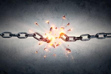 Foto de Broken Chain - Freedom And Separation Concept - Imagen libre de derechos