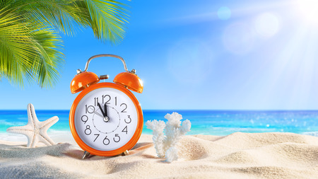 Photo for Last Minute - Summertime Concept - Alarm In The Tropical Beach - Royalty Free Image