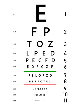 Illustration pour Medical poster with sign. Concept graphic element for ophthalmic test for visual examination. Eyes test charts with latin letters. Creative vector illustration EPS10 - image libre de droit