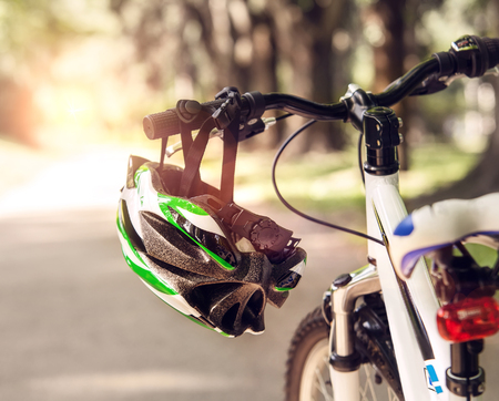 Foto per Safe bicycle helmet - Immagine Royalty Free