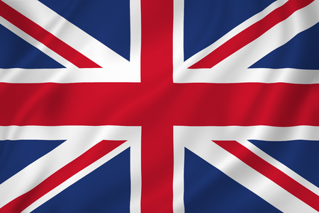 Foto de British national flag background texture. - Imagen libre de derechos