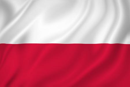 Foto de Poland national flag background texture. - Imagen libre de derechos
