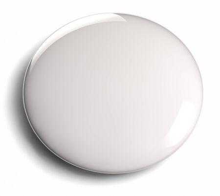Foto de White blank badge button isolated on white  - Imagen libre de derechos