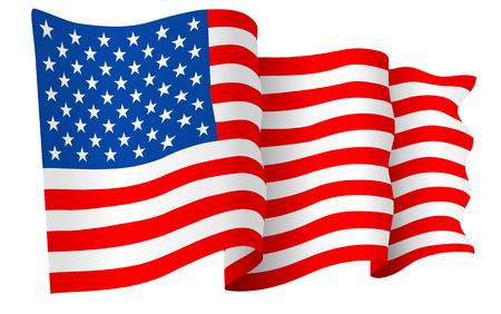 Illustration pour USA American flag vector - image libre de droit
