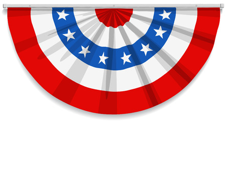 Illustration pour Bunting for July 4th and most American holidays. - image libre de droit