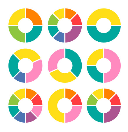 Vector circle arrows for infographic. Template for diagram, graph, presentation and chart. Business concept with three, four, five, six, seven and eight options, parts, steps or processes.