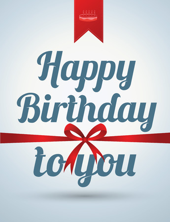 Happy birthday card. Vector illustration. Can use for printing and web.
