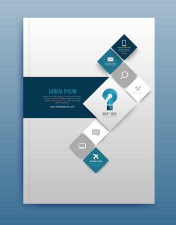 Illustration pour Vector brochure design template, flyer layout, magazine cover & poster template. Vector illustration. Can use for printing and web. - image libre de droit