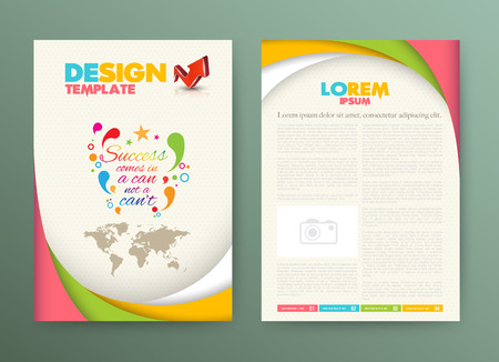 Illustration pour Brochure Flyer design Layout template with success comes in a can not a can't. - image libre de droit