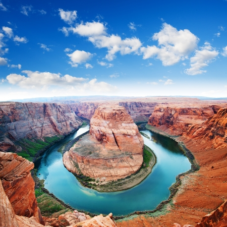 Horse Shoe Bend, north rim Grand Canyon  Page, Arizona, USA
