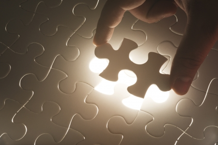 Missing jigsaw puzzle Concept for completeness