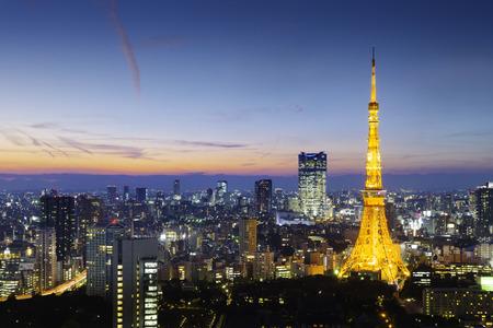 Photo pour Tokyo Tower, Tokyo, Japan - image libre de droit