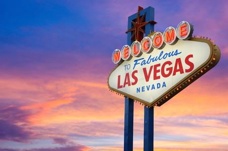Foto de Welcome to Fabulous Las Vegas Neon Sign - Imagen libre de derechos