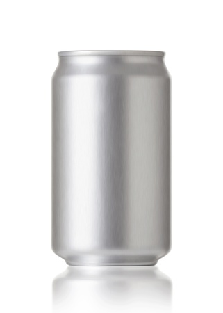 Foto de aluminum cans isolated on white background, Blank soda or beer can with copy space, Realistic photo image - Imagen libre de derechos