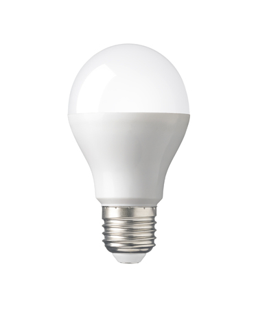 Photo pour LED, New technology light bulb isolated on white background - image libre de droit