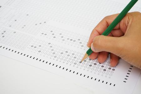 Foto de test form with pencil - Imagen libre de derechos