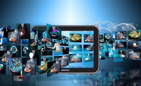 Foto de Television and internet production .technology and business concept - Imagen libre de derechos