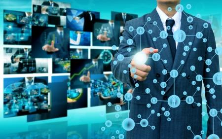 Photo pour Businessman Choosing the right person - image libre de droit