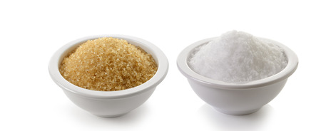 Photo for sugar and salt on white background - Royalty Free Image