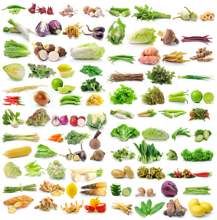 Photo pour set of vegetable on white background - image libre de droit
