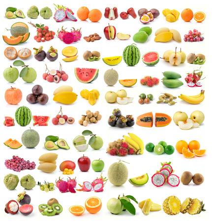 Photo for set of fruit on white background - Royalty Free Image