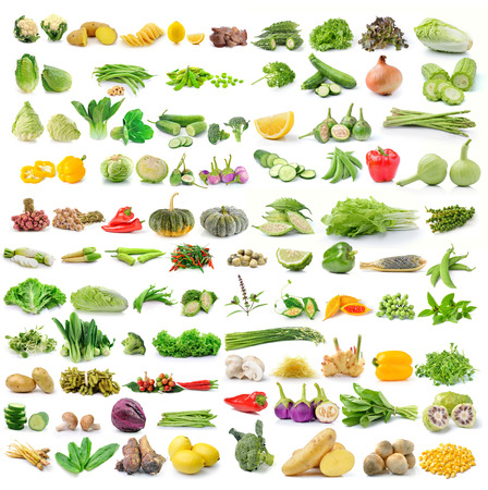 Photo pour set of vegetables isolated on white background - image libre de droit