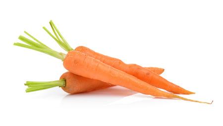 Photo pour carrots isolated on a  white background - image libre de droit