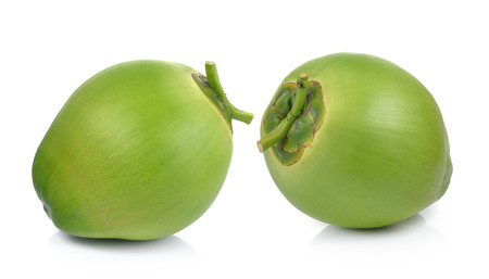 Foto de Green coconuts on white background - Imagen libre de derechos