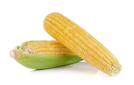 Foto de fresh corns on white background - Imagen libre de derechos