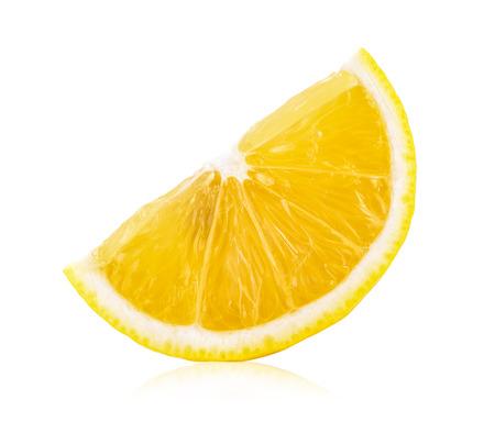 Photo pour lemon slice isolated on white background - image libre de droit
