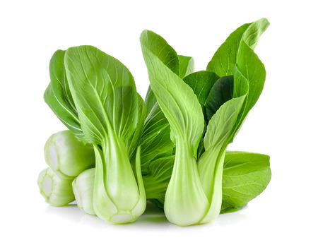 Photo pour Bok choy vegetable on white background - image libre de droit