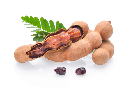 Photo for Tamarind on white background - Royalty Free Image