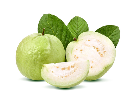 Photo for Guava fruit isolated on white background. - Royalty Free Image