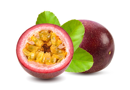 Photo for sweet passionfruits isolated on white background - Royalty Free Image